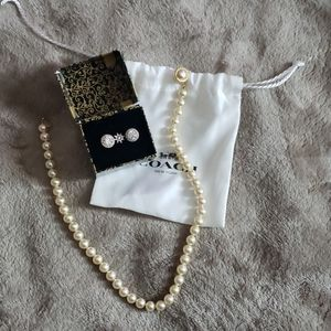 Coach jewelry set 925 sterling silver